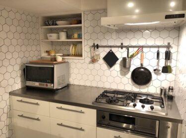キッチンの作業スペースとチョコミン党